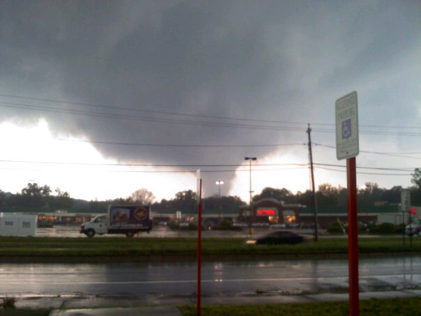 The tornado right after forming in Westfield